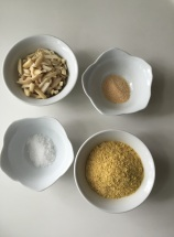 Nut Parmesan Ingredients: Nutritional Yeast, Slivered Almonds, Garlic Powder, and Sea Salt